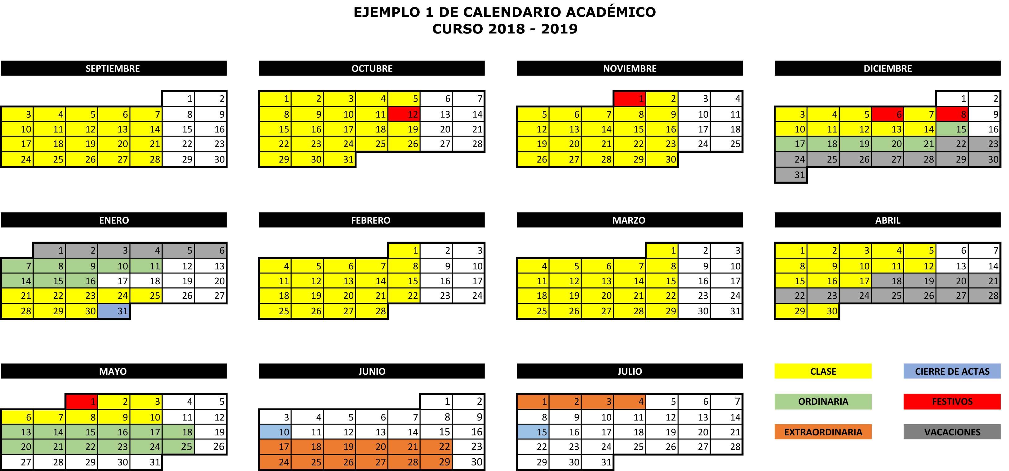 Calendario Examenes Unican Derecho.Calendario Academico Ugr